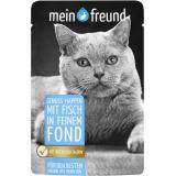 Mein Freund Katze Genuss Happen mit Fisch in feinem Fond