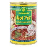 Indonesia Feuriger Hot Pot mit Fleischbällchen