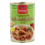 Simon Vegetarische Balkanklößchen mit Reis