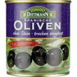 Feinkost Dittmann Spanische geschwärzte Oliven ohne Stein trocken eingelegt