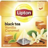 Lipton Black Tea Vanilla Caramel Pyramidenbeutel