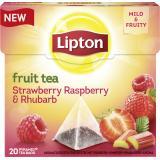 Lipton Fruit Tea Strawberry Raspberry & Rhubarb Pyramidenbeutel