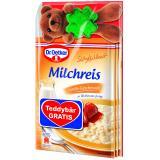 Dr. Oetker S��e Mahlzeit Milchreis Vanille Teddyb�r gratis