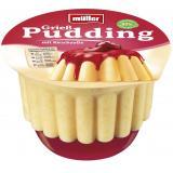 Müller Grieß Pudding mit Kirsch Soße
