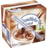 Landliebe Milch leckerer Genuss mit Schoko