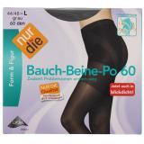 nur die Bauch-Beine-Po Strumpfhose 60 den Gr. 44-48 L grau