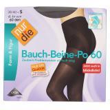 nur die Bauch-Beine-Po Strumpfhose 60 den Gr. 38-40 S dunkelbraun