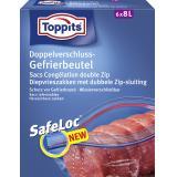 Toppits Doppelverschluss-Gefrierbeutel mit Ziploc 8 Liter