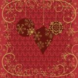 Duni Ornate X-mas Red Tissue-Servietten 33x33cm