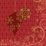 Duni Ornate X-mas Red Tissue-Servietten 24x24cm