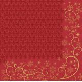 Duni Ornate X-mas Red Dunilin-Servietten 40x40cm