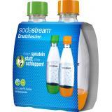 Soda Stream PET Duo-Pack  0,5 Liter grün/orange