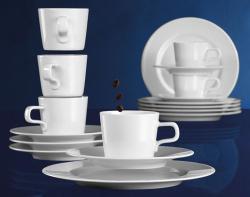 Seltmann Weiden Kaffee-Service No Limits wei�, 18-tlg. uni wei�  - 4003106979313