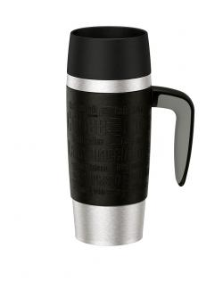 Emsa Travel Mug Handle Isolierbecher 0,36 l schwarz  - 4009049367149