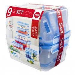 Emsa Clip & Close Frischhaltedose 9er-Set  - 4009049399249