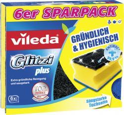 vileda Glitzi Plus Topfreiniger 6er  - 4003790104718