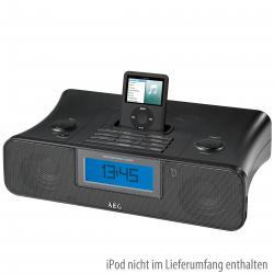 AEG SRC 4321 Radiowecker mit iPod-Dockingstation schwarz