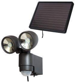 Brennenstuhl Solar-LED SOL 2x4 anthrazit mit Bewegungsmelder