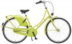 Rheinfels Holland Nostalgie Damen Eco Fahrrad, neongrün, 55 cm