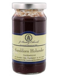 J. B�nting Coloniale Fruchtaufstrich Sanddorn Holunder  (225 g) - 4017700982204