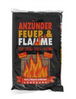 Holzkohlewerk Lüneburg Anzünder Feuer & Flamme  (24 St.) - 4004216000881