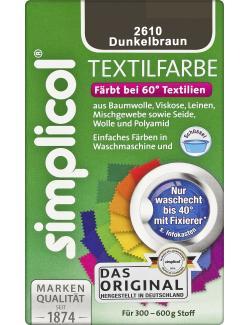 Simplicol Textilfarbe dunkelbraun  (150 g) - 4052400026100