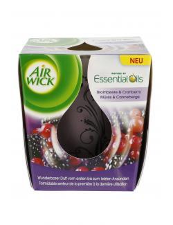 Air Wick Essential Oils Duftkerze Brombeere & Cranberry  (105 g) - 4002448081081