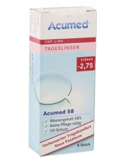Acumed 58 Tageslinsen St�rke -2,75  (8 St.) - 4040369402714