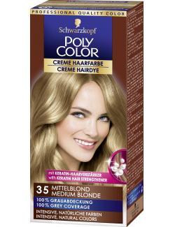 Schwarzkopf Poly Color Creme-Haarfarbe 35 mittelblond  (73 ml) - 4015000211352
