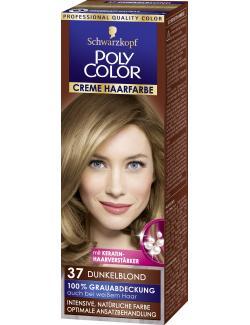 Schwarzkopf Poly Color Creme-Haarfarbe 37 dunkelblond  (82,50 ml) - 4015000211376