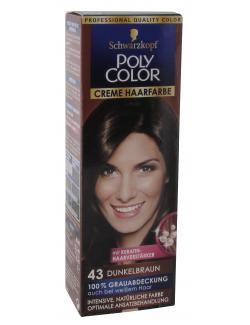 Schwarzkopf Poly Color Creme-Haarfarbe 43 dunkelbraun  (82,50 ml) - 4015000211437
