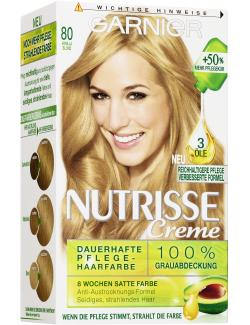 Garnier Nutrisse Creme Pflegende Intensiv Coloration 80 vanilla blond  - 4002441020193