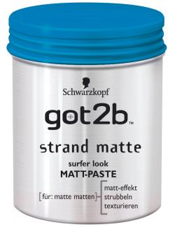 Schwarzkopf got2b Strand Matte surfer look Matt Paste  (100 ml) - 4015000516396