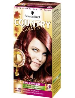 Schwarzkopf Country Colors Intensivt�nung 58 grand canyon granatrot  (113 ml) - 4015000523622
