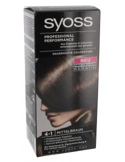Syoss Professional Performance Coloration 4-1 mittelbraun  (115 ml) - 4015000544894