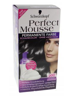 Schwarzkopf Perfect Mousse Schaumcolor 200 schwarz  (93 ml) - 4015000933339
