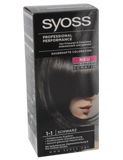 Syoss Professional Performance Coloration 1-1 schwarz  (115 ml) - 4015000544801
