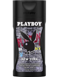 Playboy New York Shower Gel & Shampoo  (250 ml) - 3607342265011