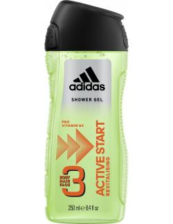 Adidas Active Start 3in1 Shower Gel + Shampoo + Face Wash  (250 ml) - 3412247320013