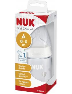Nuk First Choice+ Trinkflasche Silikon Sauger Gr. 1/S  (150 ml) - 4008600159148