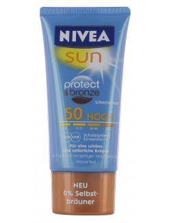 Nivea Sun Protect & Bronze Sonnencreme LSF 50  (50 ml) - 4005808753109