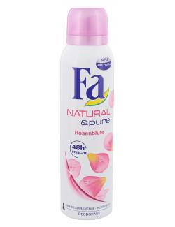 Fa Natural & Pure Deodorant Rosenblüte  (150 ml) - 4015000997720