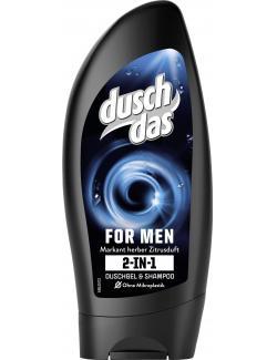 Duschdas 2in1 For Men Duschgel & Shampoo mit markant herbem Duft  (250 ml) - 8711700956796