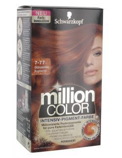 Schwarzkopf Million Color Intensiv-Pigment-Farbe 7-77 glänzendes Kupferrot  (126 ml) - 4015000996754