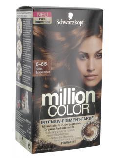 Schwarzkopf Million Color Intensiv-Pigment-Farbe 6-65 helles Schokobraun  (126 ml) - 4015000996839