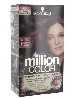 Schwarzkopf Million Color Intensiv-Pigment-Farbe 4-89 luxuriöses Mahagoni  (126 ml) - 4015000996723