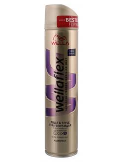 Wella Wellaflex Haarspray F�lle & Style f�r feines Haar ultra starker Halt  (250 ml) - 5410076958870
