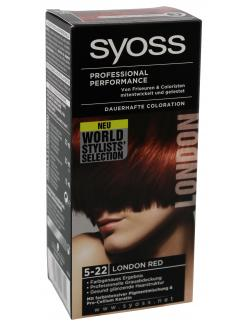 Syoss Professional Performance Coloration 5-22 London red  (115 ml) - 4015000996044