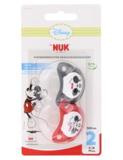 Nuk Disney Kiefergerechter Beruhigungssauger Silikon Gr. 2  (2 St.) - 4008600128335
