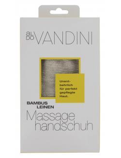Aldo Vandini Bambus Leinen Massagehandschuh  (1 St.) - 4003583176441